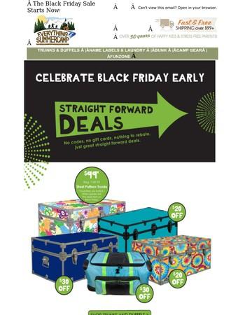 Black Friday Sale Starts Now - Big Camp Trunk Savings