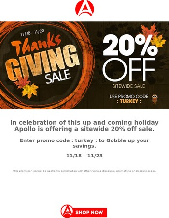 Last Chance To Gobble Up Your Savings