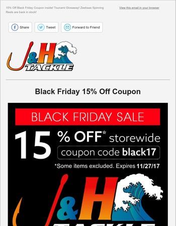 J&H TACKLE Newsletter