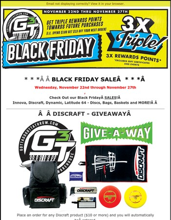 Black Friday Sale at Gotta Go Gotta Throw! Don't Miss Out!