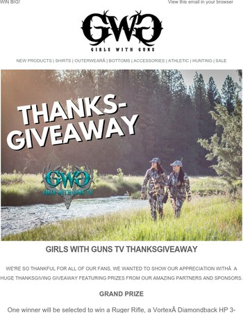 Enter our Thanks-Giveaway! Win a Ruger Rifle, Vortex Optics, Muck Boots & More!