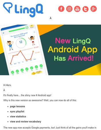 New LingQ Android App Has Arrived!