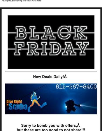 Who needs Black Friday Scuba Sales?