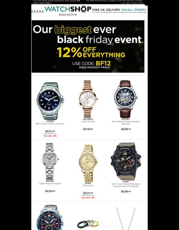 Our Biggest Ever Black Friday Event Starts Now