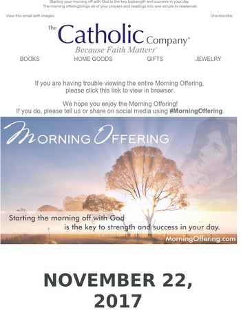 Your Morning Offering