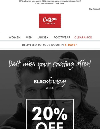 20% off everything – don't miss out!