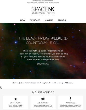 Black Friday is coming…
