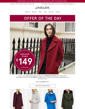 OFFER OF THE DAY: Coats* £149...