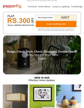 New Is Due! Easy Home Updates At Best Prices.
