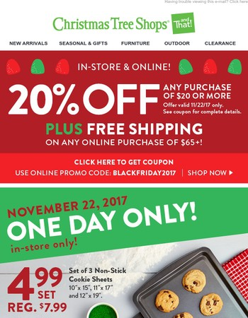 20% Off Your Total Purchase + Free Shipping & An Incredible Value