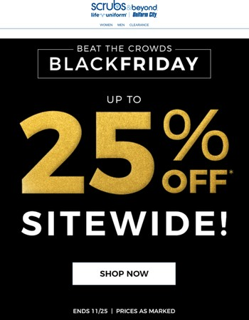 FREE Gift with Purchase + Up to 25% Off Sitewide