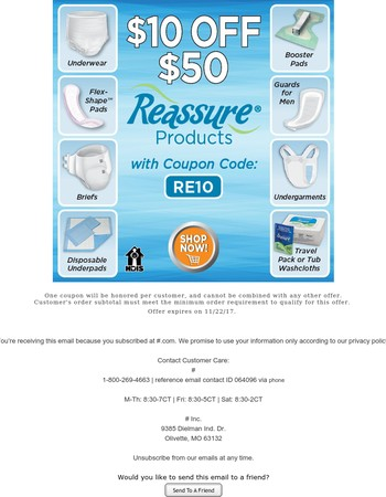 Act Fast: Save $10 on Reassure ★
