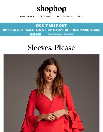 Up to 75% off during Buy More, Save More! + dresses you won't freeze in