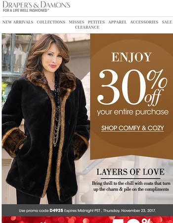 Love Luxury? Indulge With 30% Off Your Entire Order