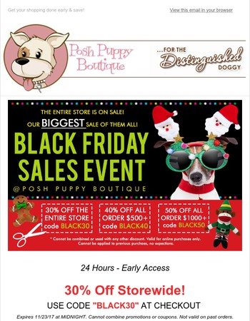 Early Access Granted....Pre-Black Friday Sale for VIP only!