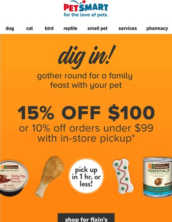 Don't forget to include your pet in your Thanksgiving feast!