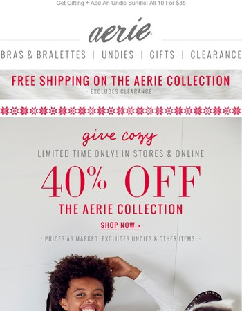 40% Off Our All-Kinds-Of-Cozy Collection