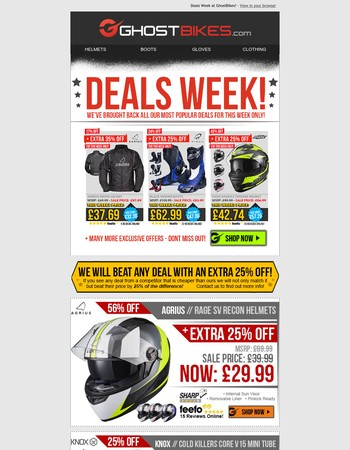 Deals Week > Prices Slashed on our Best Sellers - No need to wait for Black Friday!!!
