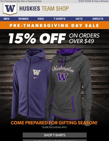 Kick Off Gifting Season with 15% OFF Your Order