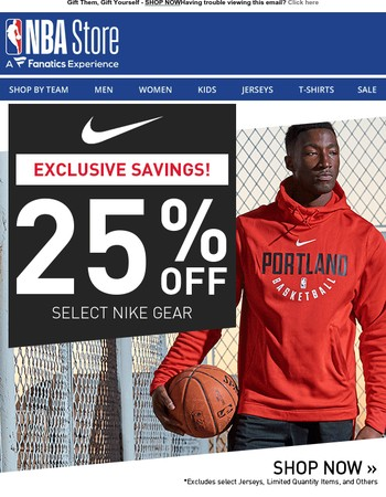 EXCLUSIVE Savings! 25% Off Nike Apparel!