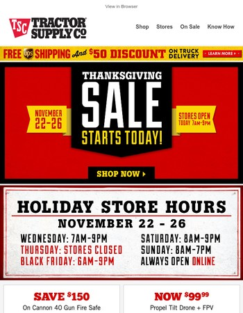 Thanksgiving Sale starts today. Hurry and grab great savings!