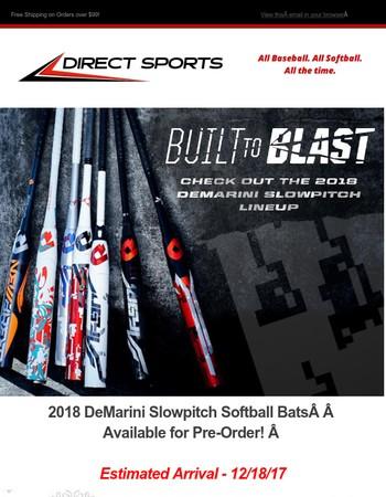 Pre-Order Now! 2018 DeMarini Slowpitch Bat Models + Holiday Savings Begins!