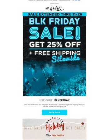 Black Friday Starts Now! 25% Off + Free Shipping
