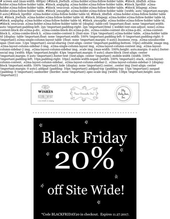 Black Friday 20% Off Site WIde...Baby Bedding, Decor & More!