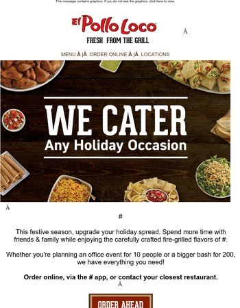 We Cater any Holiday Occasion