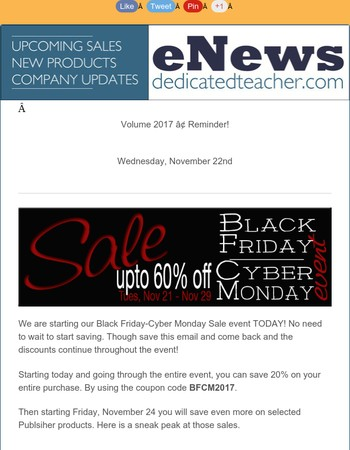 Black Friday Sale - Going on now!