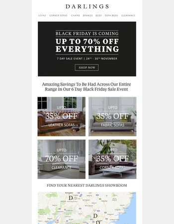 Black Friday Sofas - Up to 70% Off