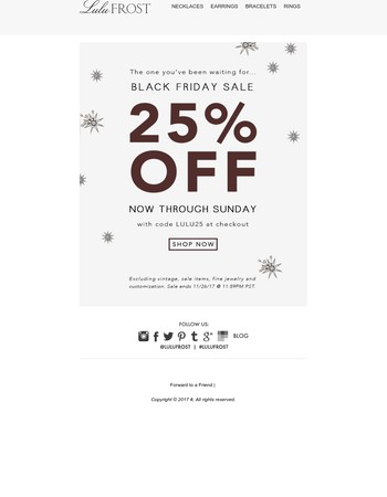 It's go time - 25% Off Starts Now