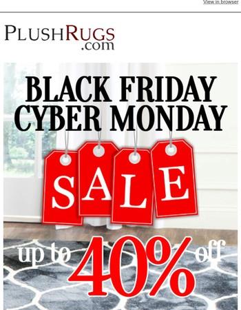 Black Friday/Cyber Monday Sale Starts Now!