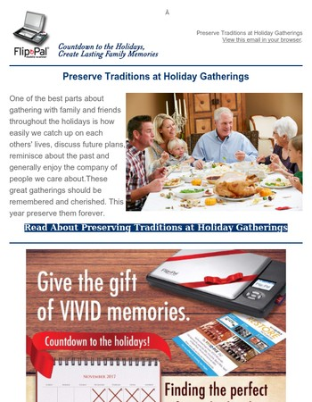 Holiday Gatherings: Preserve Traditions |Flip Side News