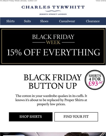 15% off ALL our shirts