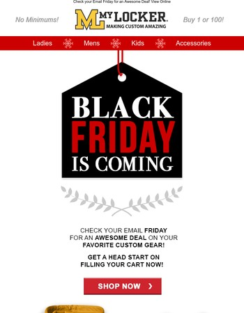Black Friday is Coming!