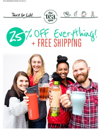 Black Friday jump-start... 25% OFF Everything + Free Shipping!