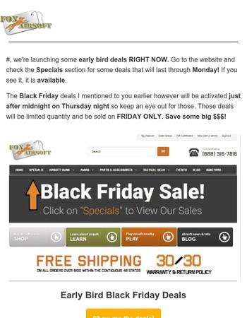 Michaela, early bird Black Friday sale now!