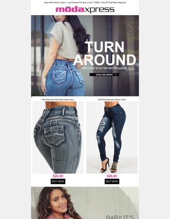 Hot New $20 Denim + Last Day For A FREE Item!!