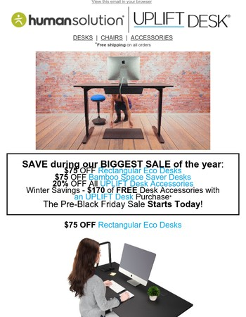 Pre-Black Friday Deals from UPLIFT Desk - Our Biggest Savings of the Year