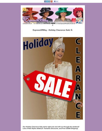 ExpressURWay - Holiday Clearance Sale!