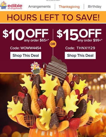 Ends TONIGHT: Savings Up To $15