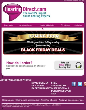 Our Amazing Black Friday Deals...