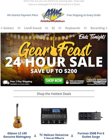 Last Chance to Save ⏰ Gear Feast Ends Tonight