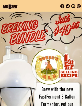 3G FastFerment & Our Best Selling Recipe - Just $49.95! + Free Shipping