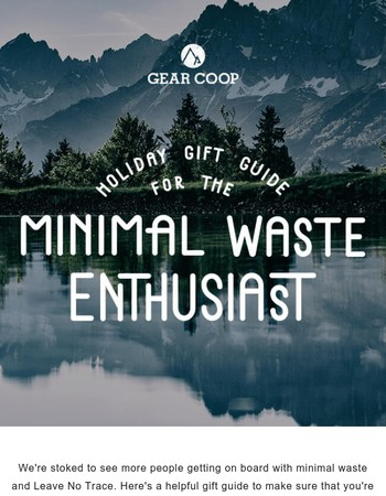 Gift Products that Have Minimal Waste