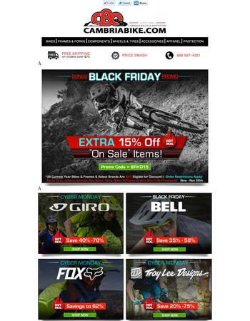 Extra 15% Off Parts, Gear & Acc. & Sale Items! ~ Get the Code!