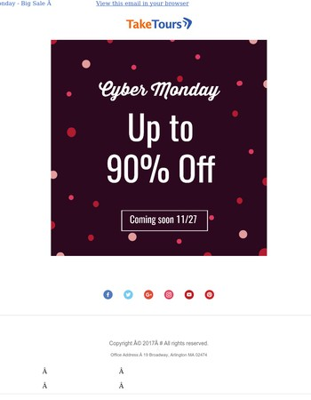 Cyber Monday Is Almost Here! Up To 90% Off