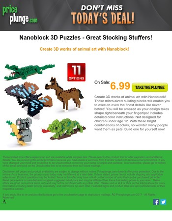 Perfect Stocking Stuffers: Nanoblock 3D Puzzles For Kids and Adults
