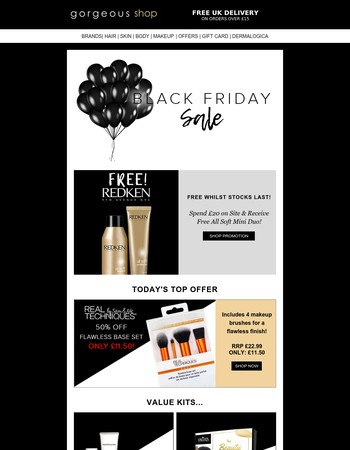 FREE Redken Mini Duo + Half-Price Gift Sets & Stocking Fillers Under £10
